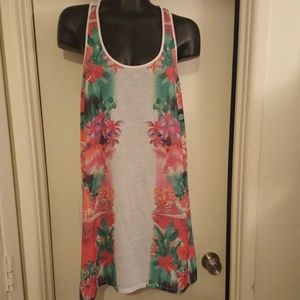 OP FLORAL TANK Dress/Cover up - Size Large